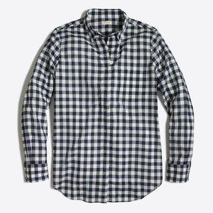 J Crew Factory classic gingham button down shirt